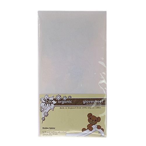 DK Glovesheets-Sábana bajera sábana bajera para Stokke Xplory orgánico, color blanco