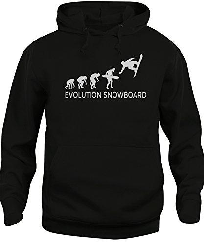 Felpa cappuccio Unisex EVOLUZIONE SNOWBOARD SPORT - EVOLUTION - iMage Nera