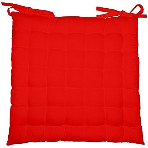 lushomes cómoda suave lleno cuadro de amortiguador de la silla roja nudo del cojín de 16 x 16 pulgadas