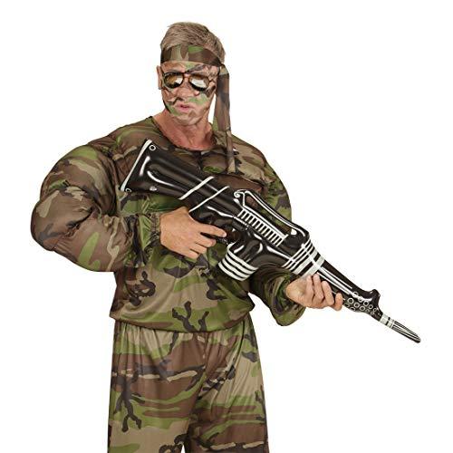 Arma Giocattolo Gonfiabile / Bianco e Nero, gonfiato ca. 90 cm / Giocattolo Gonfiabile a Forma di Arma dell´Esercito / Adatto a Carnevale