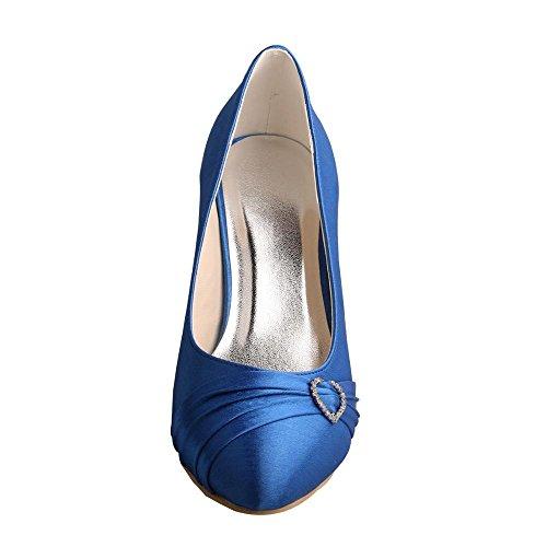 Wedopus , Sandales Compensées femme Bleu