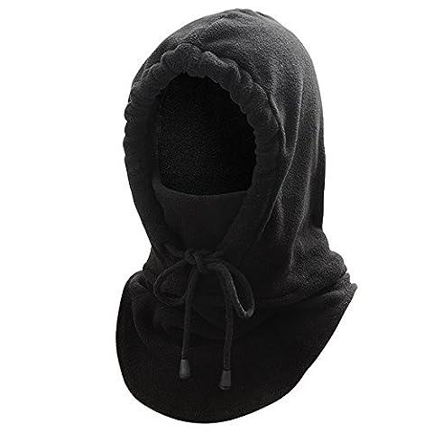 WinCret Fleece Balaclava Tactique - Windproof Masque de ski Masque chaud avec cache-cou pour les activités de plein air Hiver