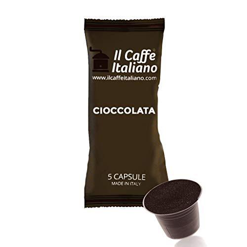 Il Caffè Italiano, 50 Cápsulas de Café compatibles Nespresso sabor de chocolate, 5 cápsulas por paquete por un total de 50 Capsules chocolate compatible con maquinas Nespresso, 100% Echo en Italy