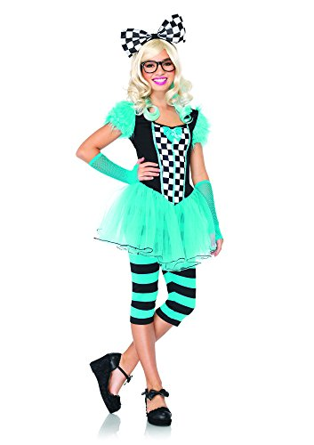 Leg Avenue J49068 - Hipster Alice Kostüm Set, 4-teilig, Größe M/L, blau (Hipster Junior)