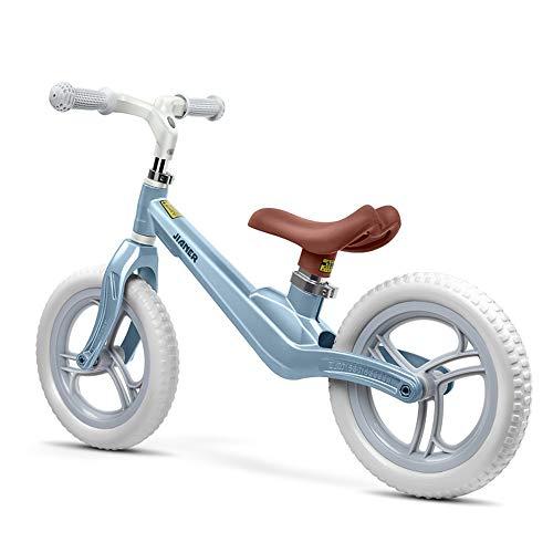Prima Bicicletta Sport Balance Bike No Pedal Bicicletta da passeggio con telaio in acciaio Bilanciamento in alluminio Bike For Kids e Toddlers Manubrio regolabile e sedile 12 pollici Bike Bike Kids Bu