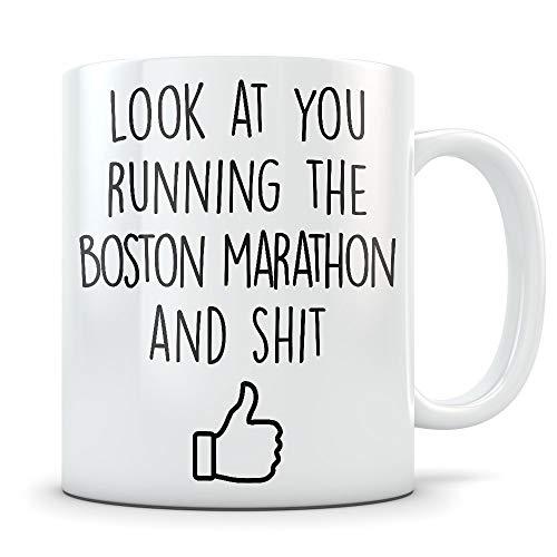 chipo Boston Marathon Gifts for Men and Women - Funny Marathoner Coffee Mug - Great Massachusetts Marathon Gift Idea for Runners, Athletes, or First Timers Boston-timer
