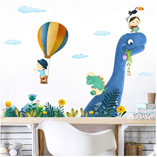 Dinosaur Kids Rooms Home Decor Wall Sticker Cartoon Animal Painting for Baby Room Nursery Decals Posters and Prints Wall Picture 105 * 97cm Animal Print Sticker