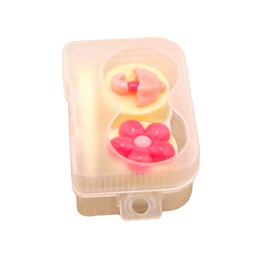 ef78df00c3 NoyoKere Cartoon Cute Plum Glasses Double Contact Lenses Box Candy Color  Contact Lens Case For Eyes