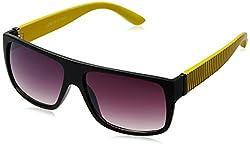 Joe Black Square Sunglasses (Black and Yellow) (JB-492 C2 56)