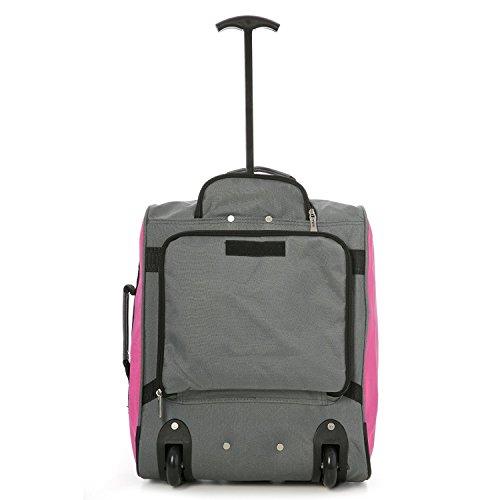 Set di MiniMax bambini / Bambini Deposito avanti trolley valigia con lo zaino e il sacchetto per la vostra bambola preferita / Action Figure / Bear (Blu x2 + Rosa x2) Rosa x4