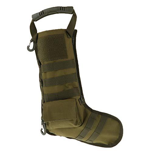 Tactical Bag Zubehör, Molle Dump Pouch Magazin Aufbewahrungstasche Weihnachten Strümpfe für Outdoor Jagd Schießen Militär Free Size armee-grün -
