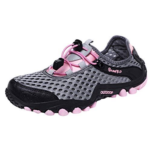 CUTUDE Freizeitschuhe Damen Laufschuhe Weiche Turnschuhe Atmungsaktiv Sportschuhe Loafers Laufschuhe Outdoor Schuhe Sneaker Frauen Sommer Flache Schuhe (Rosa, 40 EU)