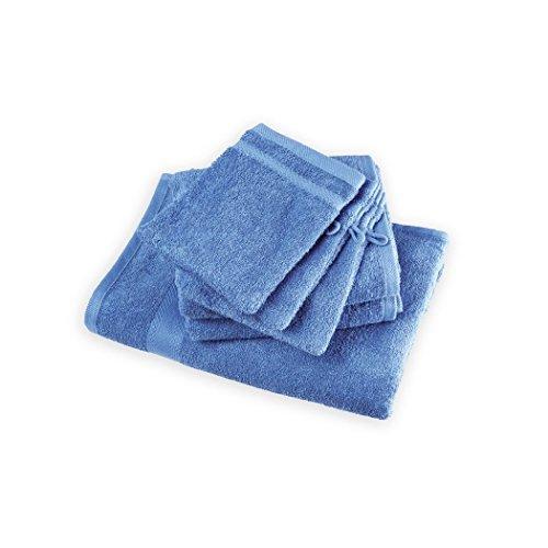 April - Gant de toilette 100% Coton 15 x 21 cm (GRIS, SABLE, GAULOISE, VERT) - Lot de 12 au coloris