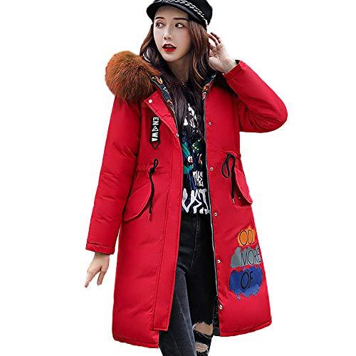 Damen Jacke Ladies Light Bomber Jacket Parka Outwear Frauen DamenmäNtel Trenchcoat Lang Mantel Outdoorjacke Travel Striped Winter Mantel Winterparka Steppjacke Oberbekleidung (rot,XL)