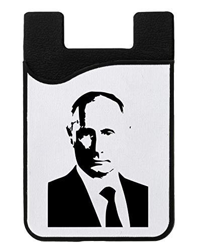 Vladimir Putin Portrait Kreditkarteninhaber für Telefon Credit Card Holder Wallet for Smartphone Mobile