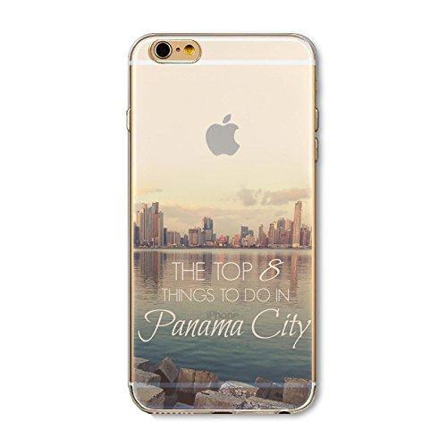 Coque iPhone 7 Housse étui-Case Transparent Liquid Crystal en TPU Silicone Clair,Protection Ultra Mince Premium,Coque Prime pour iPhone 7-Paysage-style 6 3