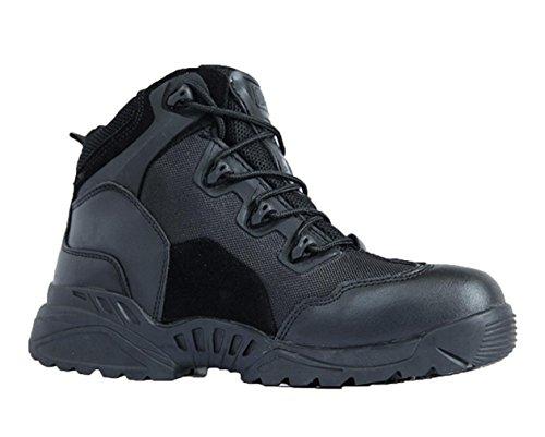 WZG scarpe da trekking ad alta cima delle forze speciali stivali da combattimento stivali tattici desert boots estivi Spider man traspirante, scarpe militari Marine , black , 41