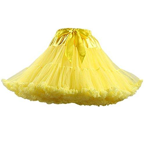 SCFL erwachsene luxuriöse weiche Chiffon Petticoat Tüll Tutu Rock Damen Tutu Kostüm Petticoat Ballett Tanz Multi-Layer Puffy Rock (Klassische Halloween Kostüme Für Kleinkinder)