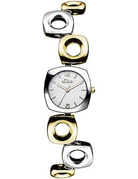 s.Oliver Damen-Armbanduhr XS Analog Quarz Alloy SO-3011-MQ