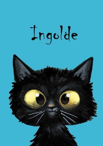 Ingolde: Ingolde - Katzen - Malbuch / Notizbuch / Tagebuch: A5 - blanko