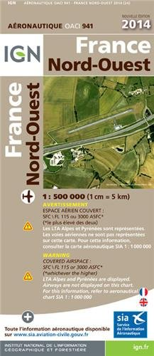 OACI941 FRANCE NORD-OUEST 2014 1/500.000