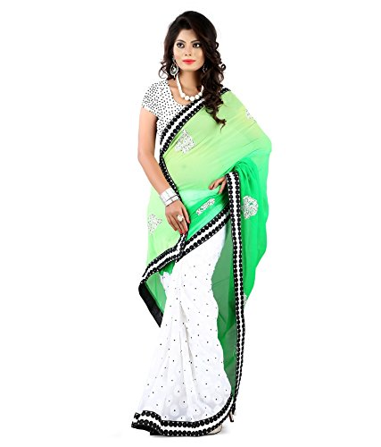 Yuvati Sarees Border Work Saree (9164_Green)
