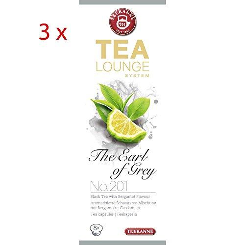 Teekanne Tealounge Kapseln The Earl Of Grey K-Fee,3er Set (3x8 Kapseln)
