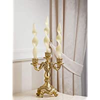 Kerzenhalter April Kerzenleuchter 3 Flammen Blumendekoration Queen elfenbein und