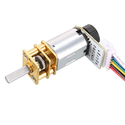 ZCHXD GA12-N20 6V 150RPM DC Gear Motor with Encoder Speed Velocity Measurement for Mini Car Balance Motor Encoder DIY