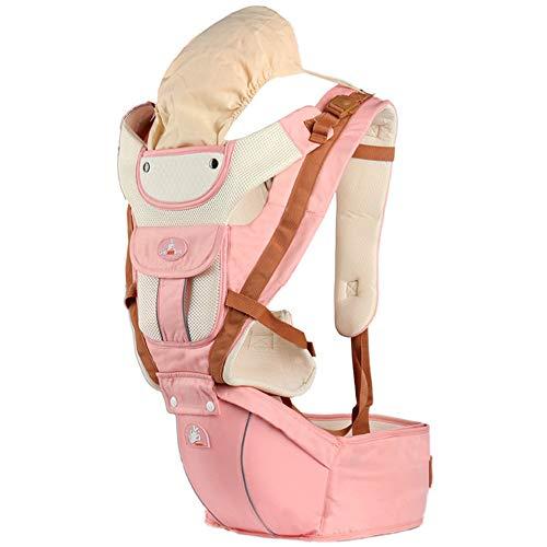 Ergonomische Babytrage mit Hüftsitz / aus reiner Baumwolle, leicht und atmungsaktiv / Multiposition: Rücken, Bauch, einstellbar für Neugeborene und Kleinkinder von 0 bis 4 Jahren (3,5 bis 20 kg),C -