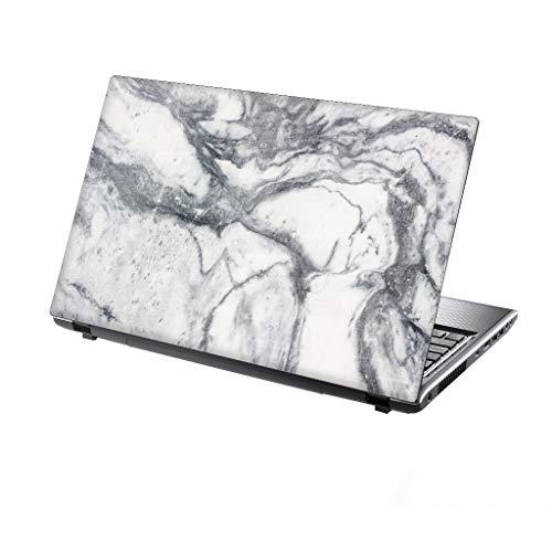 er Skin Vinyl Aufkleber mit bunten Mustern für 15 Zoll 15,6 Zoll (38cm x 25,5cm) Laptop Skin weiße Marmor Textur ()