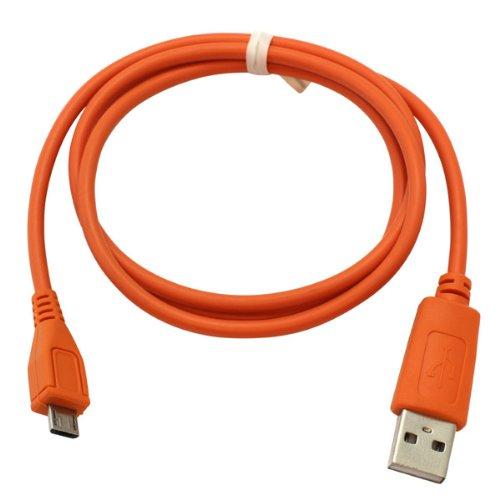 Handycop® Micro USB Datenkabel Orange für Samsung S7580 Galaxy Trend Plus GT / S8000 Jet / S8300 Ultra TOUCH / S8500 Wave / S8530 Wave II / S8600 Wave 3 / Vodafone 360 H1 / Vodafone 360 M1