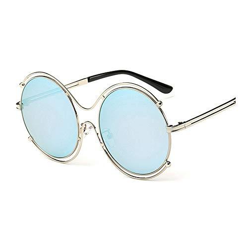 XHCP Frauen Klassische Sonnenbrille Graceful Round Frame Sonnenbrille für Frauen Cat Eyes UV-Schutz Unisex Rimmed Sonnenbrille Klassische Bunte Linse Lady 's Sonnenbrille für das Fahren Reisen (F