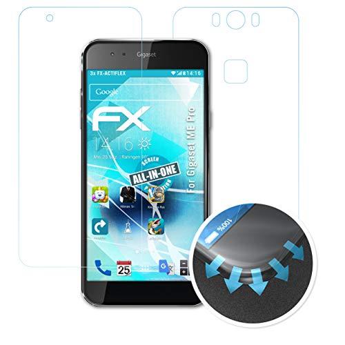 atFolix Schutzfolie passend für Gigaset ME Pro Folie, ultraklare & Flexible FX Bildschirmschutzfolie (3er Set)