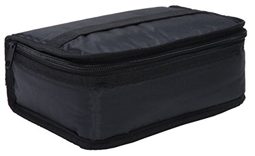 MIER Lunch Box Bag Food Storage Cooler Bags Insulated Travel Kit for Women an Men, Set of 1(Black 1pcs)