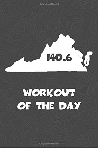 Workout of the Day: Virginia Workout of the Day Log for tracking and monitoring your training and progress towards your fitness goals. A great ... bikers  will love this way to track goals! por KwG Creates