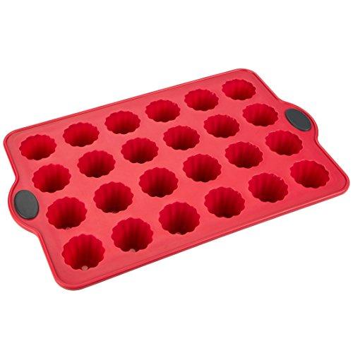 Levivo Mini Muffinform Silikon 24er, Cannelé Backform für 24 Cannelés, Muffin, Cupcakes, Muffin Backblech, Cupcake Form 34.5 x 21.5 cm