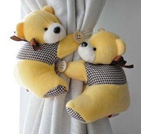 Cygoshop un paio di finestre tenda gancio tieback cute bear sipario ganci fibbia