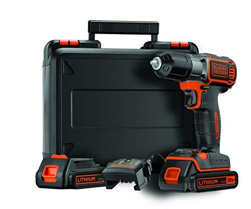 BLACK+DECKER ASD184KB-QW Trapano/avvitatore Autosense 18V - 1.5AH  con doppia batteria in valigetta