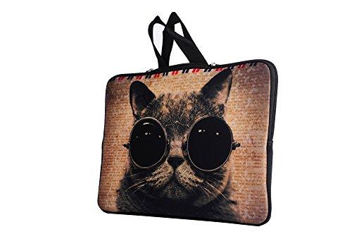AQYLQ 13 - 13,3 Zoll Macbook Pro mit Retina-Display / 13,3 Macbook Pro / und die meisten 13-Zoll-Ultrabooks und Macbooks Hüllenetui mit verdeckter Griffhülle Netbook-Hüllenetui mit - Cover Nette Katze (Vera Bradley Mini)