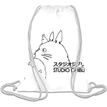 Studio Ghibli Totoro Personalizado Impreso Bolsa Con Cordón Saco
