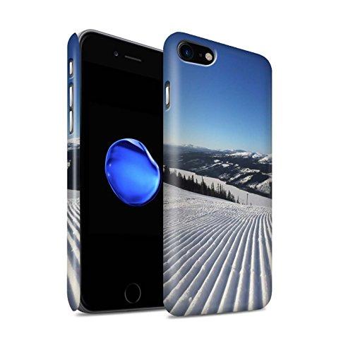 STUFF4 Matte Snap-On Hülle / Case für Apple iPhone 8 / Steil Steigung Muster / Skifahren/Snowboard Kollektion Corduroy Spuren
