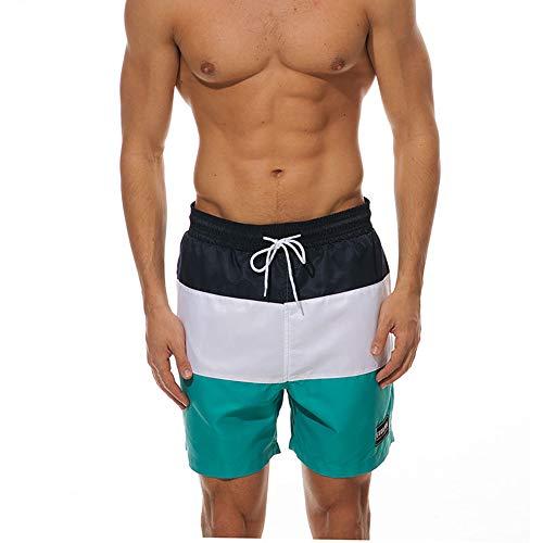 Badeshorts Herren Kurz Badehose Männer Vielfarbig Schnelltrocknend Strandhosen Freizeit Beachshorts (Grün3, EU L(Label XL-Taille 80-90 cm))