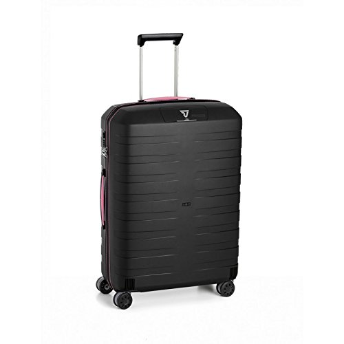 Roncato BOX Trolley Medio 4 Ruote 5512 NERO/FUCSIA