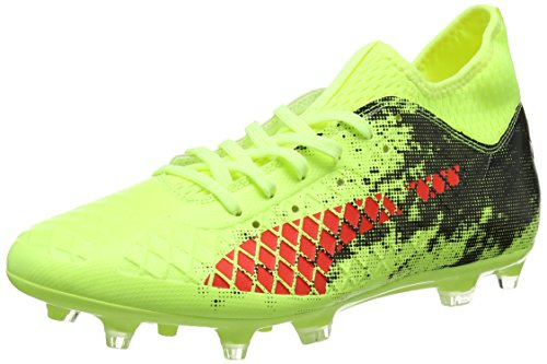 Puma Herren Future 18.3 FG/AG Fußballschuhe, Gelb (Fizzy Yellow-Red Blast Black), 41 EU (Fußball Puma Schuhe)