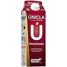 Únicla Leche UHT Desnatada - Paquete de 6 x 1000 ml - Total: 6000 ml