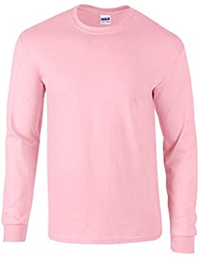 Gildan Mens Long Sleeve Ultra Soft Style Cotton T Shirt