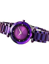 eb4aa7150500 Amazon.es  Morado - Relojes de pulsera   Hombre  Relojes