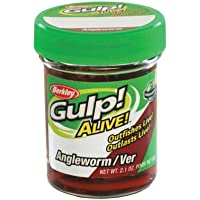 Berkley Gulp Alive - Huevo de pesca, tamaño Angleworm, color rojo wiggler