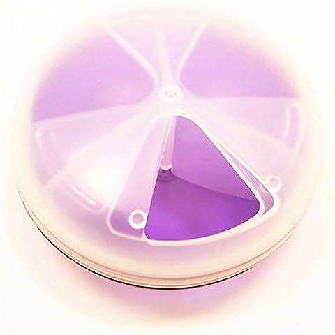 DulceCasa 1pieza 3Entramado caja de almacenamiento portátil Organizador Caja Contenedor con tapa giratoria mate para medicina vacaciones cristal uñas pequeñas